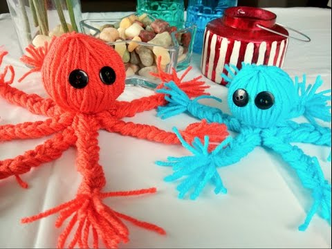 Crafts For Kids   How To Make A Yarn Octopus