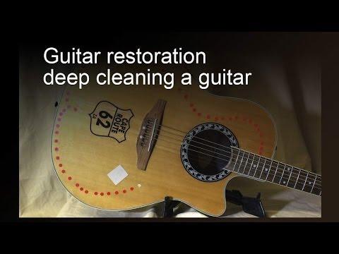 Guitar restoration - deep cleaning a guitar