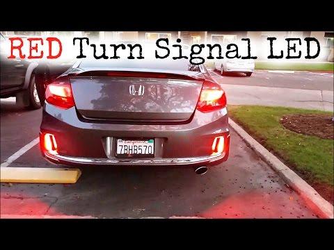 New Red LED turn signal bulb 7440 T20