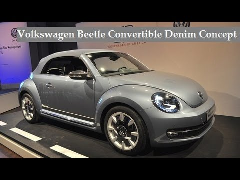Volkswagen Beetle Convertible Denim Concept live photos at 2015 New York International Auto Show !