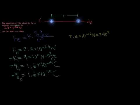 Distance Between 2 Protons - Coulomb's Law