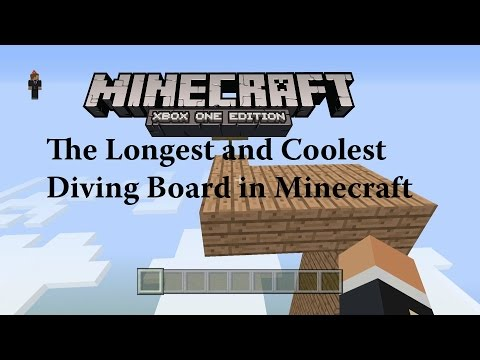 Xbox One: The Longest Awesomeness Diving Board in Minecraft History!!