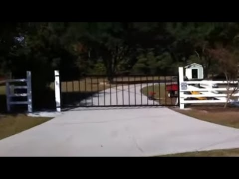 How to build a driveway gate 2/2