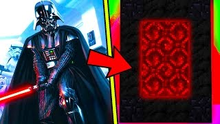 HOW TO MAKE A PORTAL TO THE COOL STAR WARS DIMENSION - MINECRAFT STAR WARS DARTH VADER