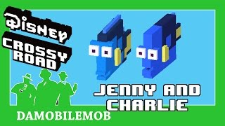 ★ Disney Crossy Road Secret Characters   JENNY AND CHARLIE Unlocked (Finding Dory Update)