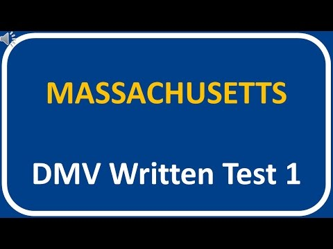 Massachusetts DMV Written Test 1