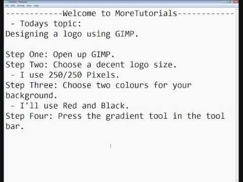 How To Make A Simple Logo Using GIMP.