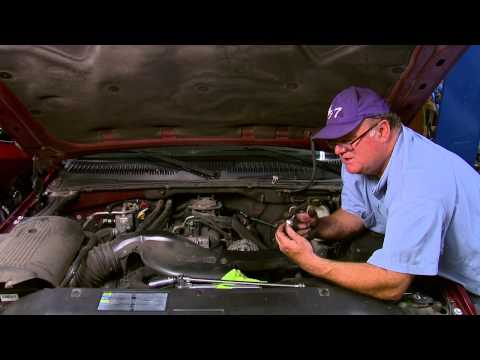 Repair/replace oil sending unit on a 2001-2006 Chevorlet Silverado, Suburban, and Escalade.