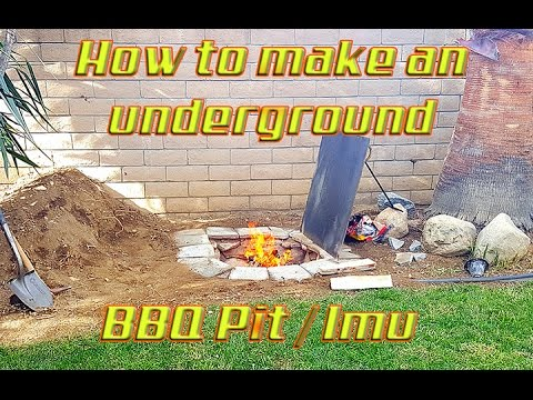 Underground BBQ Pit How To