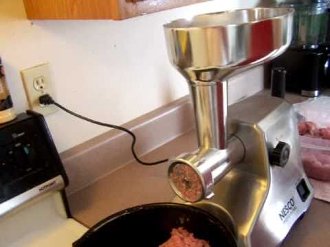 Grinding Meat - Nesco Grinder Review