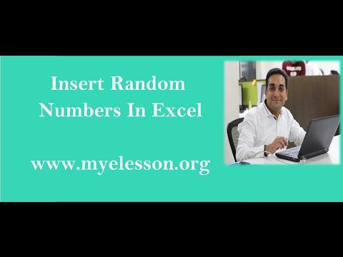 Insert Random Numbers in Excel