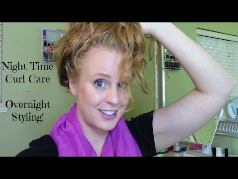 Nighttime Curly Hair Routine + How to style wet curls overnight!