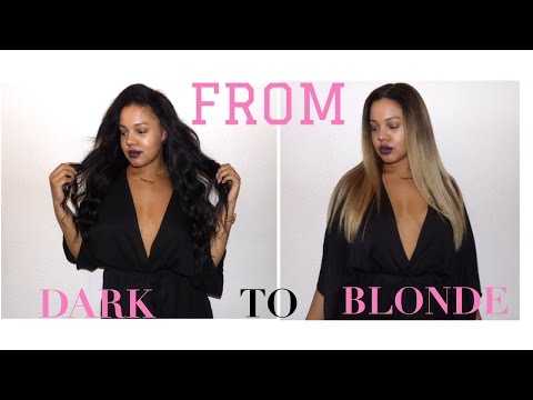From DARK to ash BLONDE | Using GRACE HAIR | Simple Ombre & Balayage - NO brassy tones