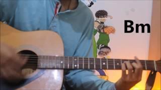 Mann Bharya - Punjabi Song - Guitar Cover Lesson Chords Easy - Janni