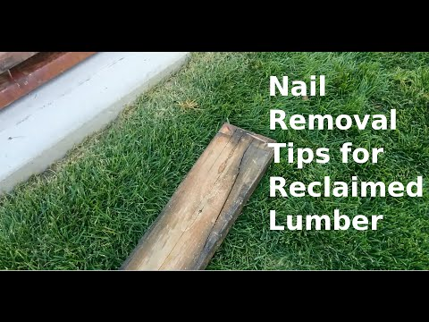 Nail Removal Tips for Reclaimed Lumber