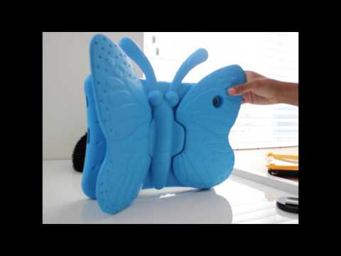 iPad Blue Butterfly Rubber Case - WE LOVE IT !! Purchased on eBay