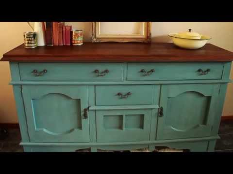 How I Made Over a Sideboard using Miss Mustard Seed's Milk Paint - MMS Kitchen Scale