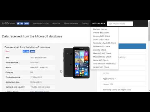 Microsoft warranty and network check by IMEI