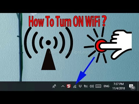 How to Turn ON WiFi? How to Enable WiFi Switch. Red Cross mark on the WiFi icon
