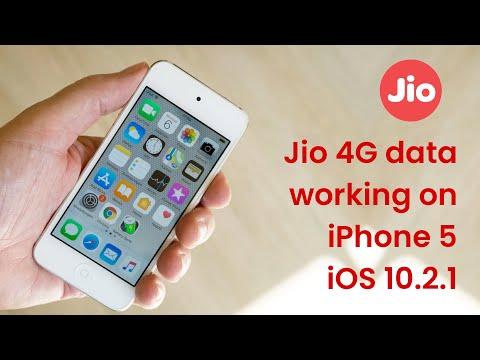 Jio 4G data working on iPhone 5 iOS 10.2.1
