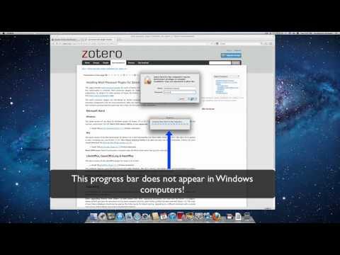 Installing Zotero's MS Word Plugin