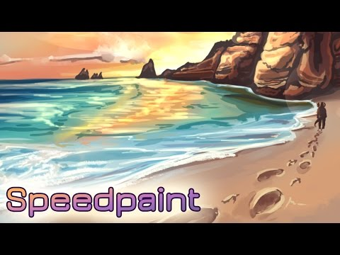 Speedpaint: Footsteps in the Sand