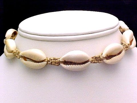 How to Put or Insert Cowrie Shells Onto Hemp Macrame Necklaces or Bracelets