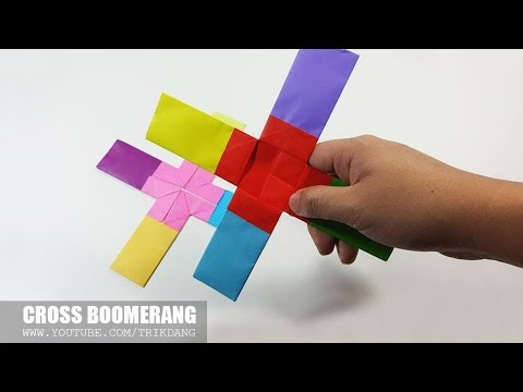 COOL PAPER BOOMERANG - How to make a Paper Boomerang that Comes back | Cross Boomerang