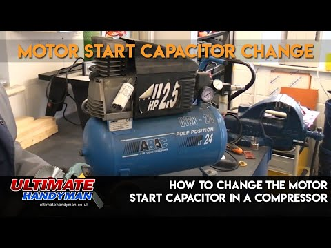 How to change the motor start capacitor in a compressor