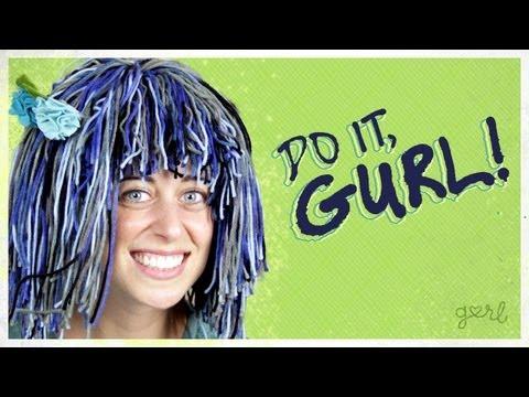 DIY Yarn Wig For Halloween! - Do It, Gurl