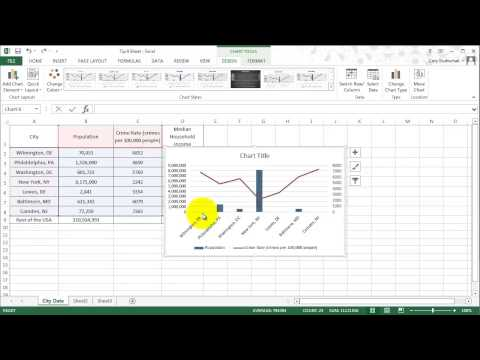 Excel Tip 9   Charts Part Two   Line, Scatter, and Secondary Axis