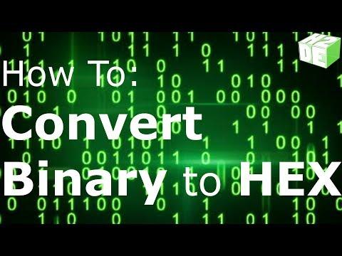 TUTORIAL - Convert Binary to Hexadecimal Conversion Programming PLC PC How To Decimal Binary Hex