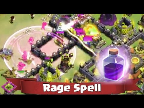 Clash of Clans - Controlling Your RAGE Spell!