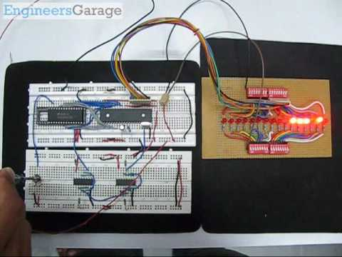 Interfacing ADC0808 with 8051 Microcontroller (AT89C51) using D-flip flop clock