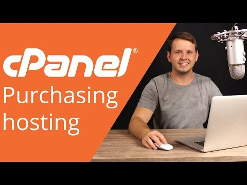 cPanel beginner tutorial 1 - How to purchase hosting