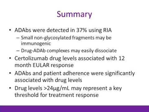Anti-Drug Antibodies, Random Drug Levels with Efficacy in Certolizumab Pegol