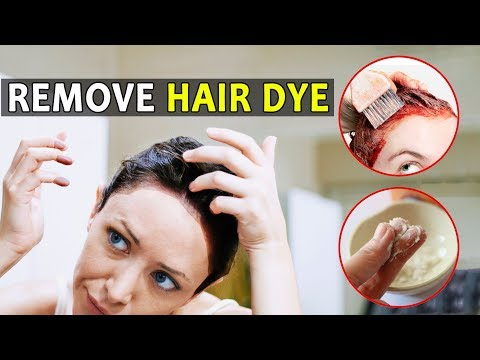 How to Remove Hair Dye from Skin, nails and scalp fast
