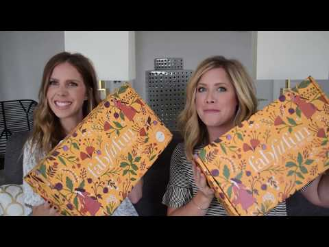 Unboxing the FALL Fab Fit Fun Box with my sister!