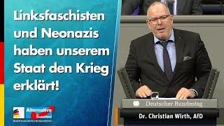 Linksfaschisten und Neonazis haben unserem Staat den Krieg erklärt! - Christian Wirth - AfD-Fraktion
