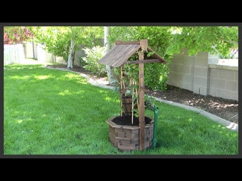 Wishing Well lawn ornament assembly & installation