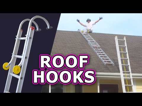 Roof Hook with Wheel - Ladder Hooks Climb Safely Steep Qualcraft Acro Ridge Home Depot Lowes Sears
