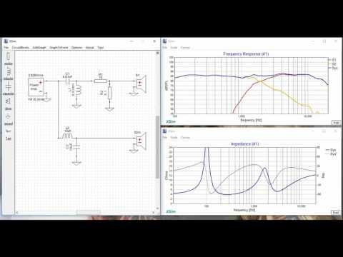 Crossover Design Software Xsim Tutorial for HiFi Speakers