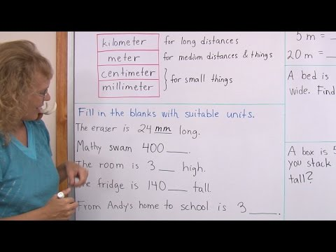 Common metric units of length: kilometers, meters, centimeters & millimeters (3rd grade math)