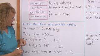 Common Metric Units Of Length Kilometers Meters Centimeters Millimete