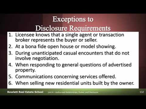Exceptions To Disclosure Requirements