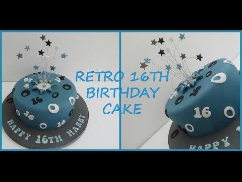 RETRO 16TH BIRTHDAY CAKE