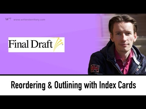 Final Draft Tutorial: Index Cards: Reordering Scenes and Outlining your Story