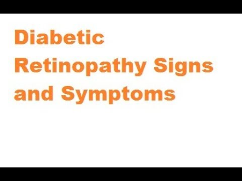 Diabetic retinopathy Signs and symptoms
