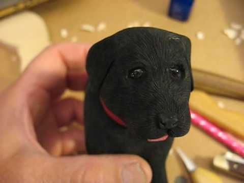HOW TO MAKE GLOSSY EYES ON THE BLACK LAB PUPPY #23