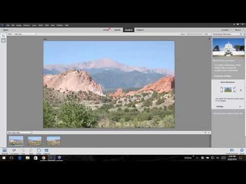 Photoshop Elements Panorama Stitching Photos Together